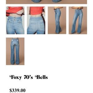 54c07d6d51ad stoned immaculate Jeans - 70s foxy bell bottoms